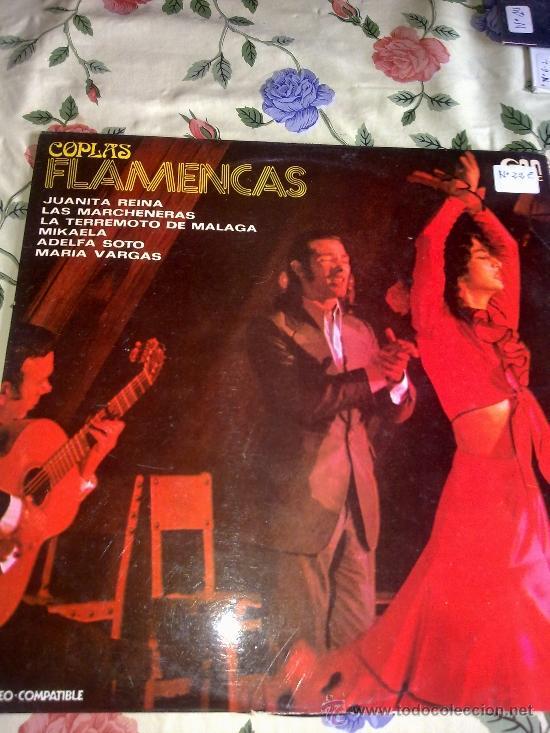 COPLAS FLAMENCAS JUANITAS REINA. LAS MARCHENERAS. LA TERREMOTO DE MALAGA. MIKAELA. ADELFA SOTO. C4V (Música - Discos - LP Vinilo - Otros estilos)