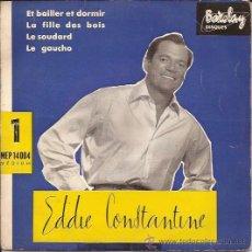 Discos de vinilo: EP-EDDIE CONSTANTINE-BARCLAY 14004-FRANCE 195??. Lote 39040827