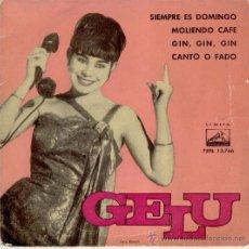 GELU - SIEMPRE ES DOMINGO + 3 - EP SPAIN 1962 VG++ / VG++