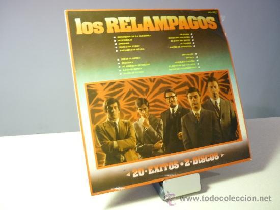 LOS RELÁMPAGOS 20 ÉXITOS 2 LP (Música - Discos de Vinilo - EPs - Grupos Españoles 50 y 60)