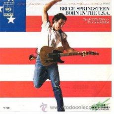 Discos de vinilo: BRUCE SPRINGSTEEN 7' SG BORN IN THE U.S.A. + SHUT OUT THE LIGHT, JAPAN EDIT. Lote 39057642