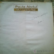 Discos de vinilo: VINILO PAULA ABDUL: MY LOVE IS FOR REAL (MAXI SINGLE 45 R.P.M.)(SIN FUNDA). Lote 39060466