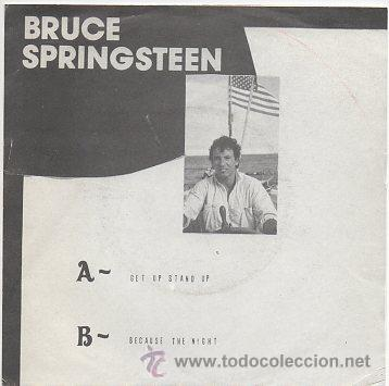 Discos de vinilo: bruce springsteen 7' sg boss get up stand up + because the night - Foto 2 - 39057780