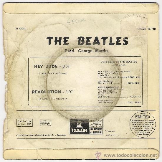 Discos de vinilo: The Beatles - Hey Jude / Revolution - 1968 - EMI - España - Foto 2 - 39070373