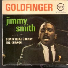 Discos de vinilo: JIMMY SMITH.GOLDFINGER (PART I Y II ).COMIN' HOME JOHNNY.THE SERMON.VERVE FRANCIA.TODO EN FOTOS.RARO. Lote 39199979