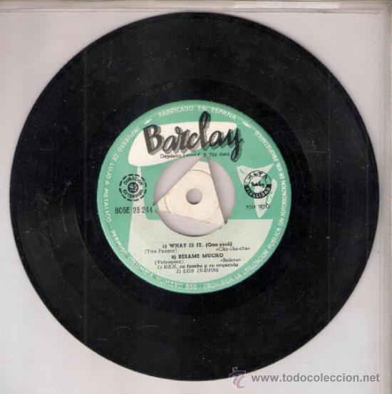 Discos de vinilo: Ben, Los Indios, Onesime Grosbois, Emil Stern. What is it.Besame mucho + 2.Barclay 1960.Todo fotos. - Foto 2 - 39208093