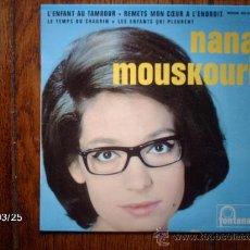 Discos de vinilo: NANA MOUSKOURI - L´ENFANT AU TAMBOUR (EL TAMBORILLERO) + 3. Lote 39086831