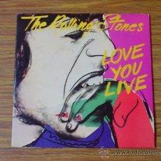 Discos de vinilo: THE ROLLINGS STONES: LOVE YOU LIVE (LP DOBLE). Lote 39091934