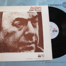 Discos de vinilo: PACO IBAÑEZ Y CUARTETO CEDRON LP ARIOLA 1972 MUSICA DE POESIAS VINILO. Lote 39103952