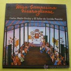 Discos de vinilo: LP - CARLOS MEJIA GODOY Y EL TALLER DE SONIDO POPULAR-MISA CAMPESINA NICARAGUENSE PEPETO. Lote 74688238