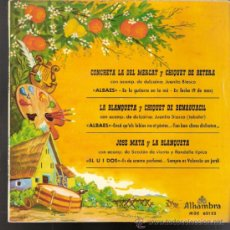 Discos de vinilo: CONCHETA LA DEL MERCAT.CHIQUET DE BETERA.LA BLANQUETA.CHIQUET DE BENAGUACIL.JOSE MATA.ALHAMBRA 1962.. Lote 39190600