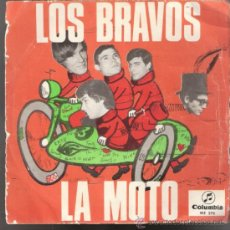Discos de vinilo: LOS BRAVOS. LA MOTO / LA PRIMERA AMISTAD. COLUMBIA 1966. TODO EN FOTOS.. Lote 39198502