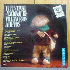 Disques de vinyle: IV FESTIVAL NACIONAL DE VILLANCICOS NUEVOS - LOS MISMOS / ELENA - LP BELTER - LS4. Lote 39122782