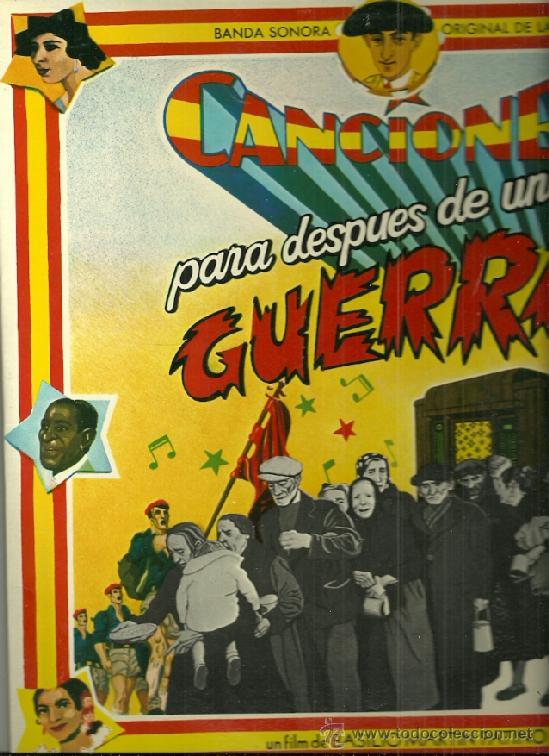 BANDASONORA ORIGINAL DE LA PELICULA CANCIONES PARA DESPUES DE UNA GUERRA... (Música - Discos - LP Vinilo - Bandas Sonoras y Música de Actores )