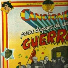 Discos de vinilo: BANDASONORA ORIGINAL DE LA PELICULA CANCIONES PARA DESPUES DE UNA GUERRA.... Lote 39123513
