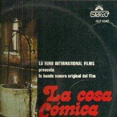 Discos de vinilo: BANDA SONORA ORIGINAL DE LA PELICULA LA COSA COMICA LP SELLO DIRESA. EDITADO EN ESPAÑA. Lote 39123600