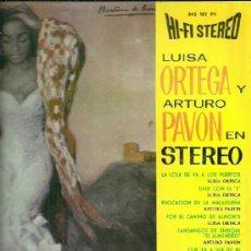 Discos de vinilo: LUISA ORTEGA LP SELLO PHILIPS EDITADO EN ESPAÑA AÑO 1963. Lote 39135703