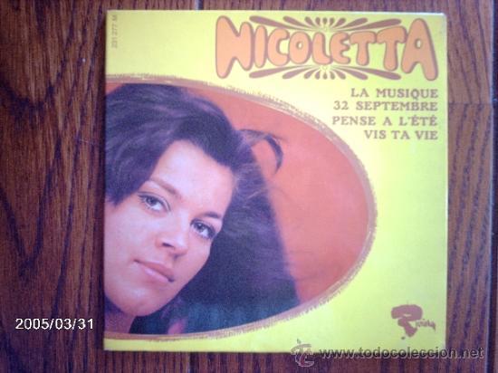 NICOLETTA - VOL 2 - LA MUSIQUE + 3 (Música - Discos de Vinilo - EPs - Canción Francesa e Italiana)