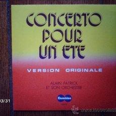 Discos de vinilo: ALAIN PATRICK ET SON ORCHESTRE - CONCERTO POUR UN ETE + A POBREZA . Lote 39190461