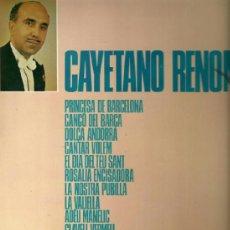 Discos de vinilo: CAYETANO RENOM (CATALUÑA) LP SELLO COLUMBIA EDITADO EN ESPAÑA AÑO 1969. Lote 39142619