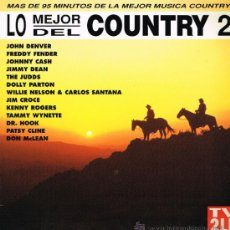 Discos de vinilo: JOHN DENVER / FREDDY FENDER / JOHNNY CASH, ETC - LO MEJOR DEL COUNTRY 2 - DOBLE LP 1994. Lote 39145548