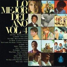 Discos de vinilo: LOS PEKENIKES / LOS ANGELES / GUY MARDEL / SANDIE SHAW, ETC - LO MEJOR DEL AÑO VOL. 4 - LP 1967. Lote 39145773