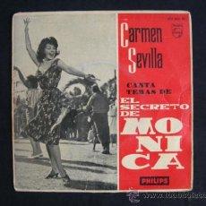 Discos de vinilo: CARMEN SEVILLA CANTA TEMAS DE EL SECRETO DE MONICA. Lote 39159255