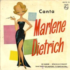 Discos de vinilo: EP CANTA MARLENE DIETRICH : LILI MARLENE . Lote 39160077