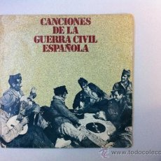 Discos de vinilo: CANCIONES DE LA GUERRA CIVIL ESPAÑOLA. SINGLE EDITORIAL URBIÓN 1978. Lote 39164144
