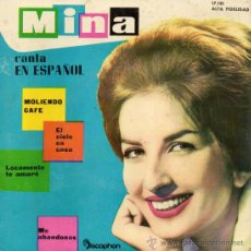 Discos de vinilo: MINA CANTA EN ESPAÑOL, EP, MOLIENDO CAFE + 3, AÑO 1961. Lote 39169129