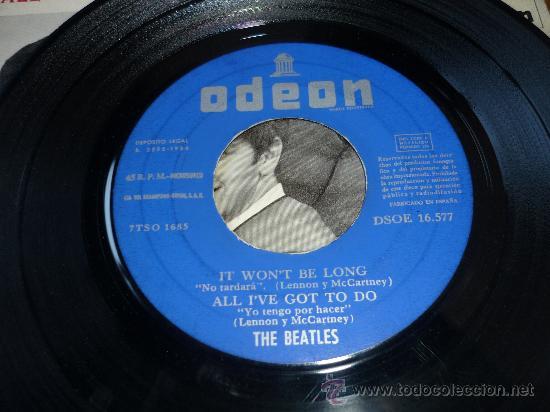 Discos de vinilo: EL DSOE 16577 THE BEATLES IT WONT BE LONG - ALL MY LOVING DONT BOTHER ME ODEON - Foto 3 - 39175038