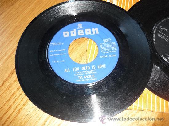 Discos de vinilo: 2 DISCOS ESCASOS THE BEATLES /ALL YOU NEED IS LOVE 1967 ESPAÑA Y HELP MEDE IN IRELAND - Foto 2 - 39175871