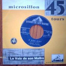 Discos de vinilo: FRANCK POURCEL ET SON GRAND ORCHESTRE - TANGO D´ITALIE + O MON DIEU. Lote 39213103