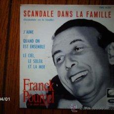 Discos de vinilo: FRANCK POURCEL Y SU GRAN ORQUESTA - J´AIME + SCANDALE DANS LA FAMILLE + 2. Lote 39213200