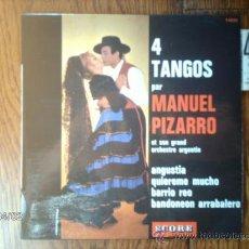 Discos de vinilo: MANUEL PIZARRO ET SON GRAND ORCHESTRE ARGENTIN - ANGUSTIA + 3. Lote 39218140