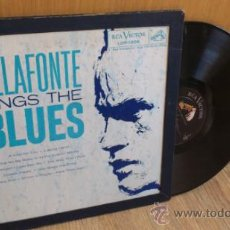 Discos de vinilo: HARRY BELAFONTE SINGS THE BLUES LP ORIGINAL RCA VICTOR LOP-1006 . Lote 39187052