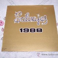 Discos de vinilo: LOS SALVAJES LP 1988 EDITADO POR TRANVIA **MUY RARO** EXCEL.ESTADO. Lote 39190254