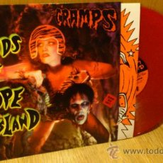 Discos de vinilo: THE CRAMPS FIENDS OF DOPE ISLAND LP VINILO COLOR ROJO SUPER RARO! . Lote 39211648