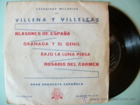 SINGLE EP GRAN ORQUESTA ESPAÑOLA VILLENA Y VILLELLAS (Música - Discos de Vinilo - Maxi Singles - Orquestas)
