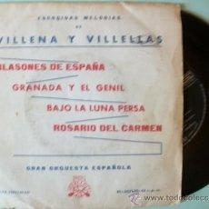 Discos de vinilo: SINGLE EP GRAN ORQUESTA ESPAÑOLA VILLENA Y VILLELLAS. Lote 39215509