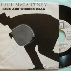 Discos de vinilo: SINGLE ESPAÑOL PROMOCIONAL PAUL MCCARTNEY LONG AND WINDING ROAD BEATLES EMI ODEON 1984. Lote 39225695
