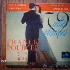 Discos de vinilo: FRACK POURCEL Y SU GRAN ORQUESTA - VALSES VIENESES - SUEÑOS DE PRIMAVERA + 3. Lote 39247253