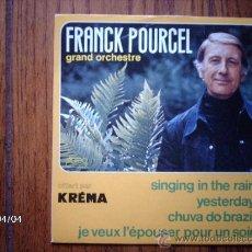 Discos de vinilo: FRANCK POURCEL - SINGING IN THE RAIN + 3. Lote 39247390
