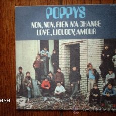 Discos de vinilo: POPPYS - NON, NON, RIEN N´A CHANGE + LOVE, LIOUBOV, AMOUR . Lote 39305536
