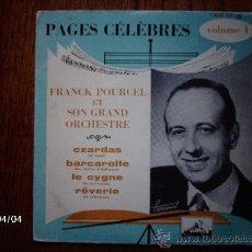 Discos de vinilo: FRANCK POURCEL ET SON GRAND ORCHESTRE - VOL 1 - CZARDAS + 3. Lote 39305609