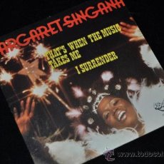 Discos de vinilo: MARGARET SINGANA THATS WHEN THE MUSIC TAKES ME SINGLE VINILO 7. Lote 39245601