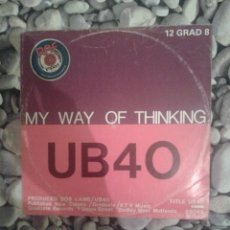 Discos de vinilo: UB 40.MY WAY OF THINKING. Lote 39252808