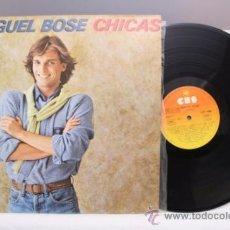 Discos de vinilo: MIGUEL BOSÉ - CHICAS - CBS - 1979 - FABRICADO EN ESPAÑA - CONTIENE ENCARTE CON LETRAS. Lote 39254777