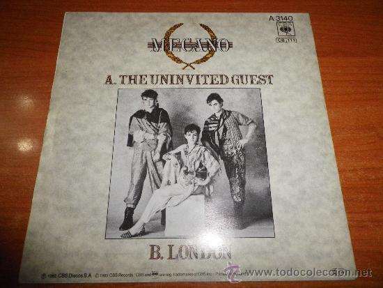 Discos de vinilo: MECANO The uninvited guest SINGLE DE VINILO EDITADO EN HOLANDA CANTADO EN INGLES ANA TORROJA RARO - Foto 2 - 39009208