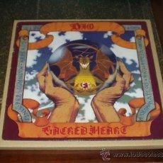 Discos de vinilo: DIO LP SACRED HEART HEAVY METAL TERCER ALBUM. Lote 39276195